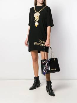 Love Moschino - embroidered gold-chain dress 3699X966095599955000