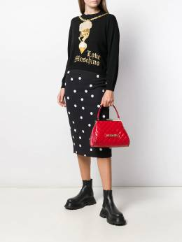 Love Moschino - embroidered gold-chain sweater 8099X966095599953000