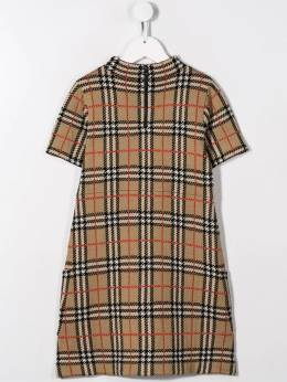 Burberry Kids - jacquard-woven check dress 38639550833300000000