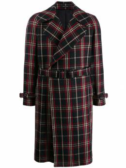 Tagliatore - Baldwin checked belted coat DWINS33QUIC999956635