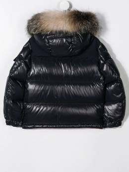 Moncler Kids - logo embroidered padded jacket 56056895695588990000