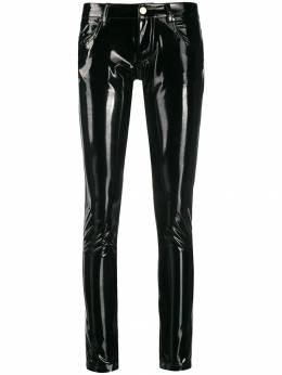 Frankie Morello - glossy-effect skinny trousers F9090PA9566633000000