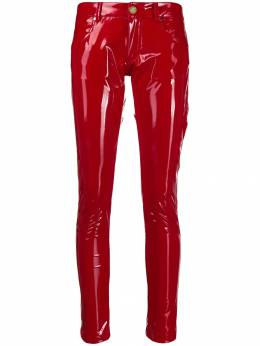Frankie Morello - glossy-effect skinny trousers F9090PA9566636300000