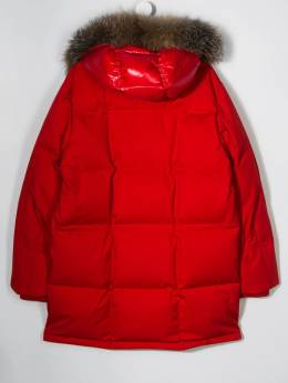 Moncler Kids - logo lined parka coat 69055366695593393000
