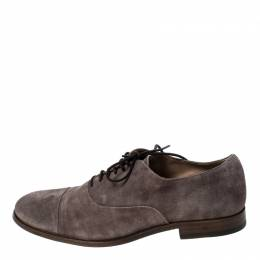 Tod's Grey Suede Lace Up Oxfords Size 42 Tod's