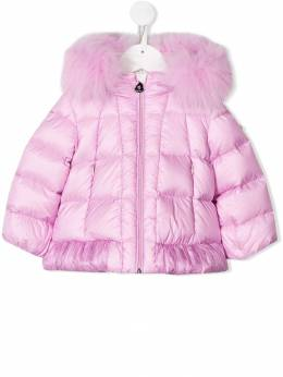 Moncler Kids - padded faux-fur lined coat 56055365895585398000