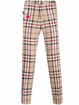 Pt01 - checked print trousers F69Z36ANMNB639556555