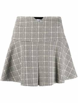 Patrizia Pepe - check patterned flared mini skirt 350A5T59566595500000