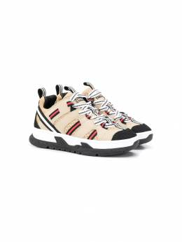 Burberry Kids - low top striped sneakers 88539559580600000000