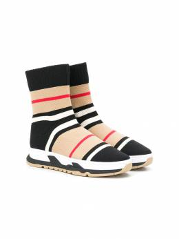 Burberry Kids - striped sock sneakers 88569559583000000000