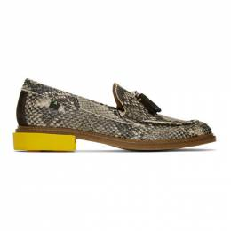 Off-White Off-White Python Tassel Loafers OMIA143F19D680039900
