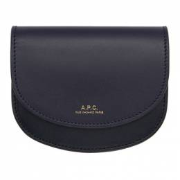 A.P.C. Black and Navy Compact Geneve Wallet 192252F04001801GB