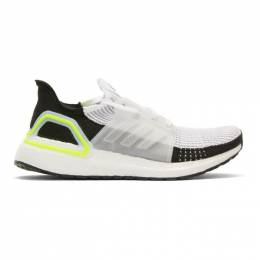 Adidas Originals White and Black UltraBoost 19 Sneakers 192751M23711307GB