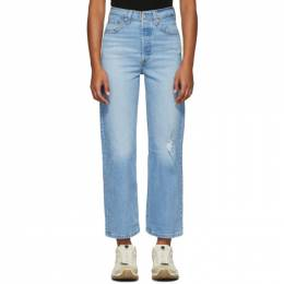 Levi's Blue Ribcage Straight Ankle Jeans 192099F06903805GB