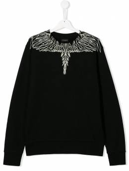 Marcelo Burlon County Of Milan Kids - TEEN wings print sweatshirt 56606956605990000000