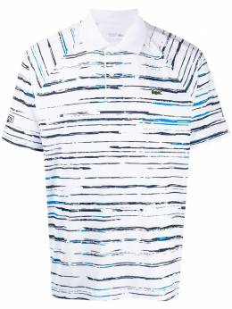 Lacoste - logo embroidered striped polo top 93395666538000000000