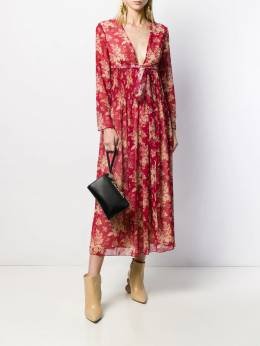 Red Valentino - RED Valentino floral V-neck maxi dress VAF365R9955909300000