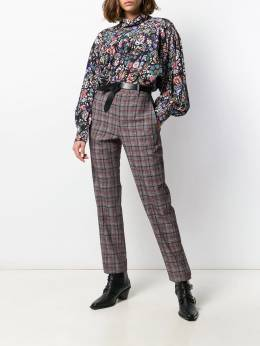 Isabel Marant - check print high-waisted trousers 33599A699I9550650300