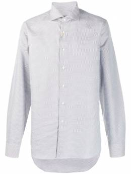 Canali - embroidered long-sleeve shirt GD696355699559836900