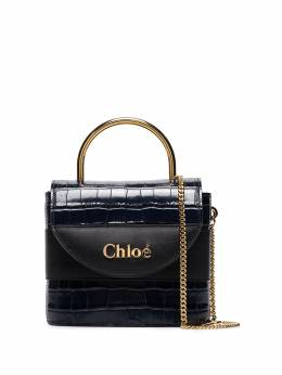 Chloé - Navy Abylock Mock Croc Leather Tote 99WS006A835D59598599
