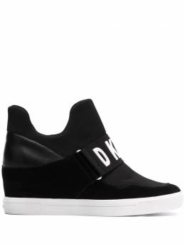 DKNY - logo strap wedged sneakers 55698955993530000000
