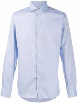 Canali - long-sleeve embroidered shirt 3GR69583566955983360