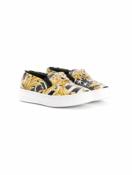 Young Versace - low top slip-on baroque sneakers 66660YB6663995580559