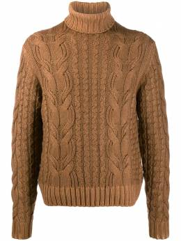 Cruciani - turtle neck cable knit jumper 50569569535000000000