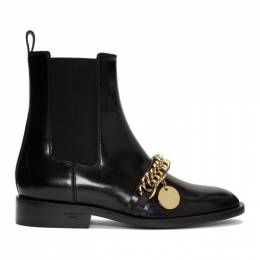 Givenchy Black Chain Charm Chelsea Boots BE601TE0J6