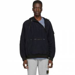 Stone Island Navy Pullover Jacket 192828M18002204GB