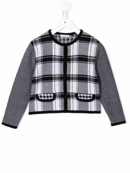 Dolce & Gabbana Kids - knitted houndstooth fitted jacket W30JAVTK956833550000