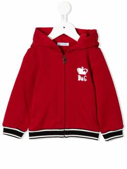 Dolce & Gabbana Kids - embroidered queen hoodie WT3G3TCL956865350000