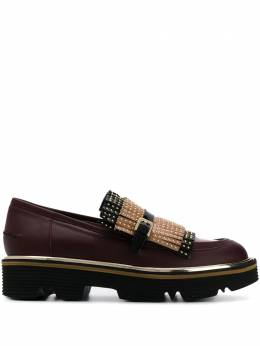 Pollini - studded fringed loafers 6055G68TC09553855800