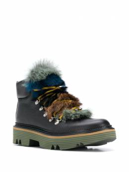 Pollini - fur tongue mountain boots 9935G68TDW9553855900