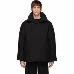 Raf Simons Black Down Double-Breasted Coat 192-717