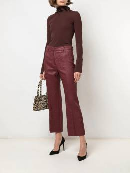 Rochas - pebbled leather look trousers P365633RP35656695608