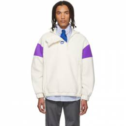 Ader Error Off-White and Purple Fleece Pullover 192039M20200202GB