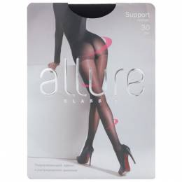 Колготки Allure Classic Support 30 den, размер 3, nero (черный) 100622947868
