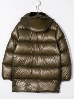 Boys Olive Green Long Puffer Coat Cp Company Kids 07CKOW030005505C661