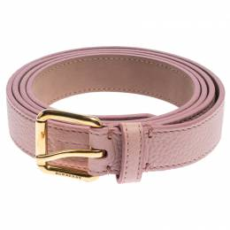 Burberry Pale Pink Leather Thomas Buckle Belt 95CM 239193