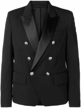 Balmain double-breasted tuxedo jacket W8H7112T373