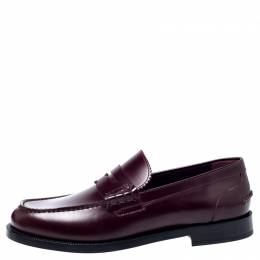 Burberry	 Burgundy Leather Bedmont Penny Loafers Size 41.5