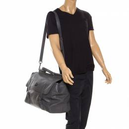 Dolce and Gabbana Grey Leather Sicily Travel Bag 235809