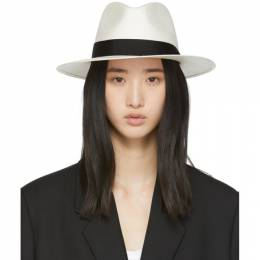 Rag & Bone	 White Straw Panama Hat 201055F01703501GB