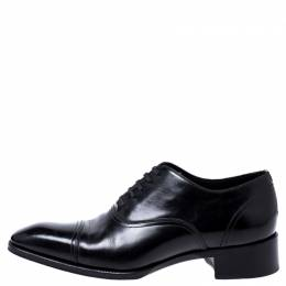 Tom Ford Black Leather Lace Up Oxfords Size 44