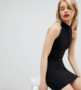 Платье с халтером Miss Selfridge-Черный 7228794