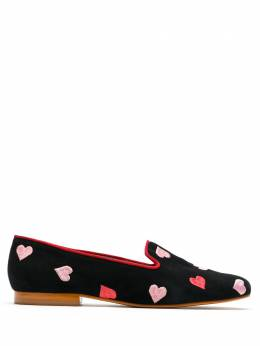 Blue Bird Shoes Hearts suede loafers S20011650123