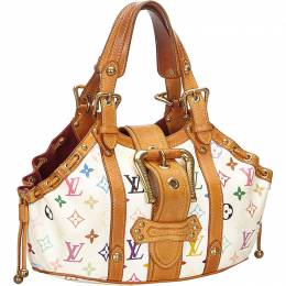 Louis Vuitton	 White Monogram Multicolore Theda PM Bag