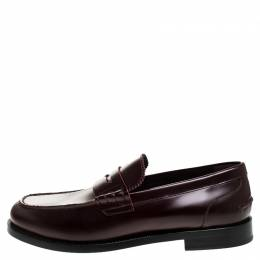Burberry	 Burgundy Leather Bedmont Penny Loafers Size 44.5