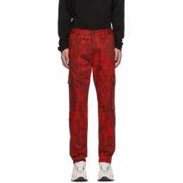 Hugo Hugo Boss Red Camo Feeven Cargo Trousers 50419925